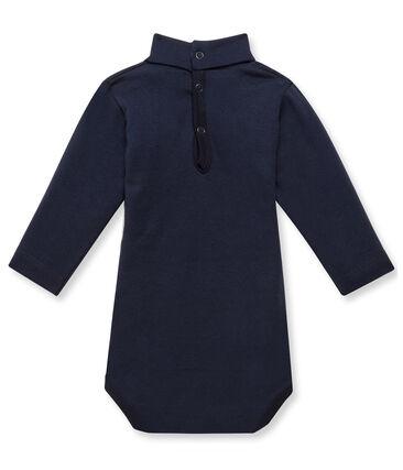 Body bebé con cuello alto azul Smoking