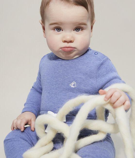 Pantalón para bebé niño de punto azul Captain Chine
