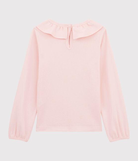 Camiseta con cuello de niña rosa Minois