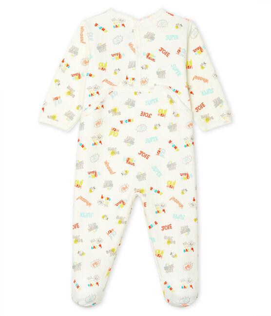 Pijama de muletón para bebé blanco Marshmallow / blanco Multico