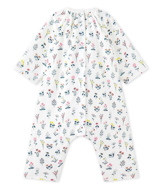 Pelele para bebé niña en túbico estampado blanco Lait / blanco Multico