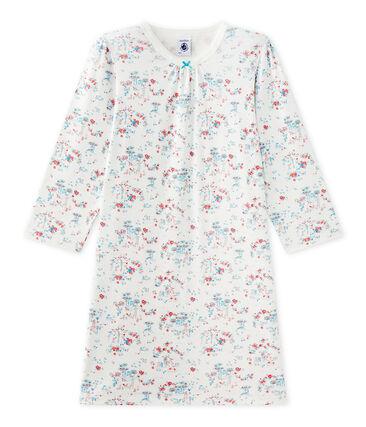 Camisón estampado de niña blanco Lait / blanco Multico