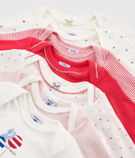 Bolsita sorpresa de 7 bodis de manga larga para bebé niña lote .