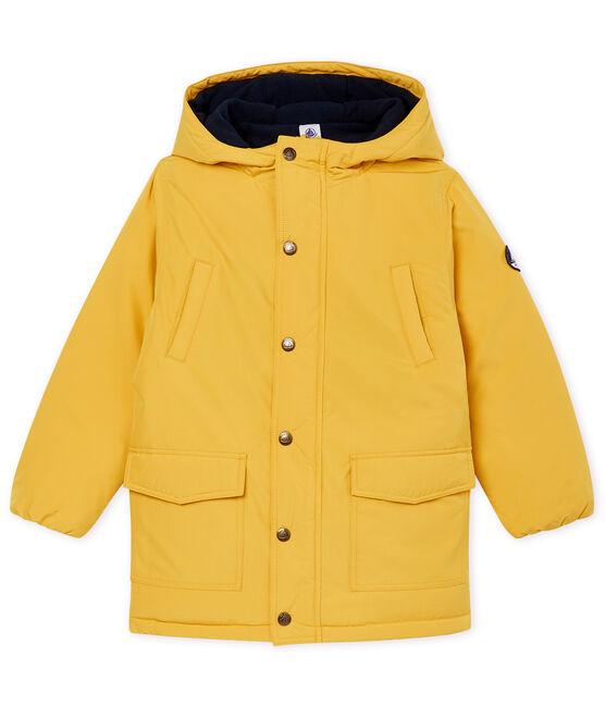 Plumas infantil de plumón para niño amarillo Ocre