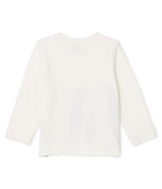 Camiseta de manga larga para bebé niño blanco Marshmallow