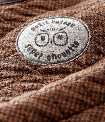 udadera Sde tela túbica de pata de gallo para bebé niño negro City / marrón Cocoa