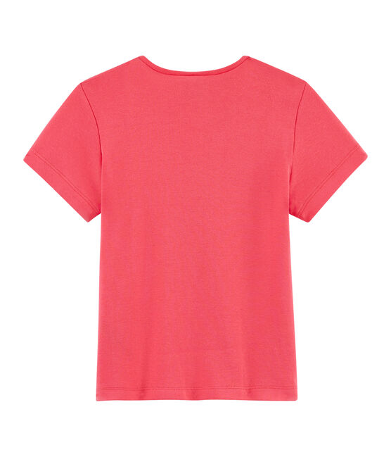 Camiseta de manga corta para niña rosa Groseiller