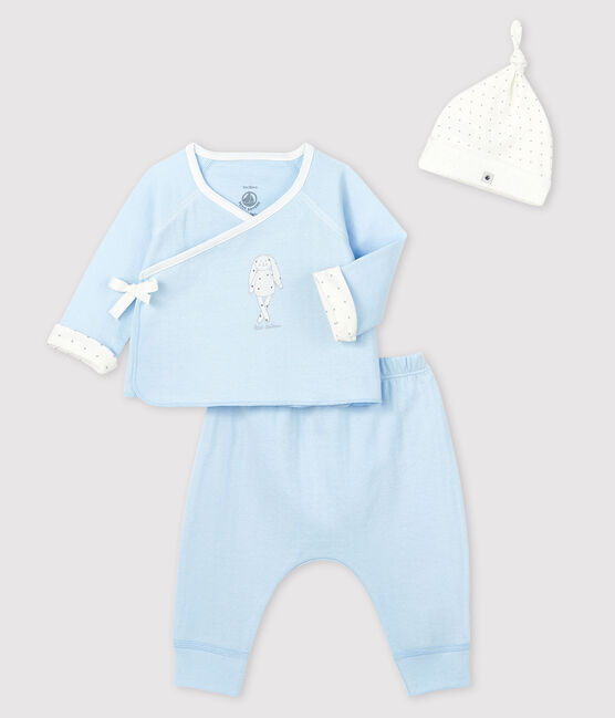 Conjunto de regalo azul de túbico para bebé niño lote .