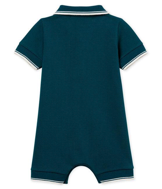 Mono corto polo para bebé niño verde Pinede