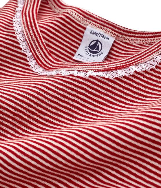 Camisón para niña de punto rojo Terkuit / blanco Marshmallow