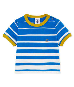 Camiseta manga corta de rayas para bebé niño