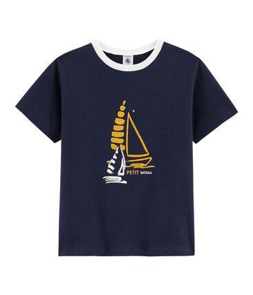 Camiseta de niño azul Smoking