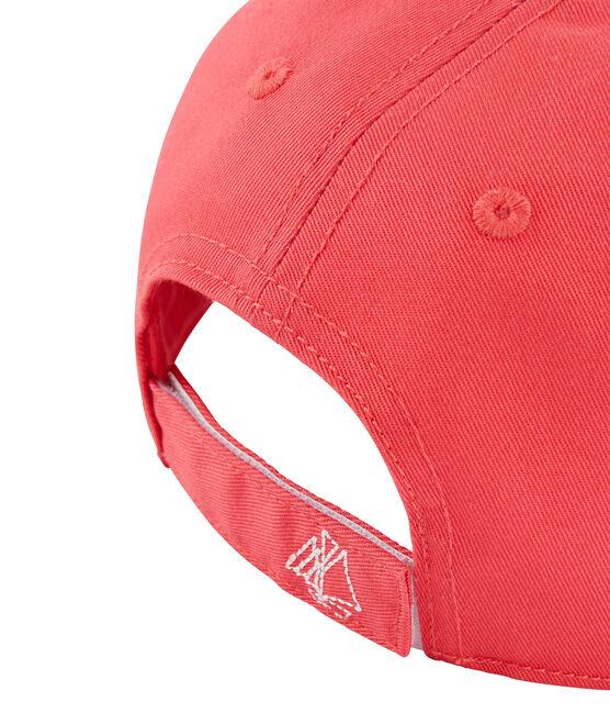 Gorra de sarga niña rosa Groseiller