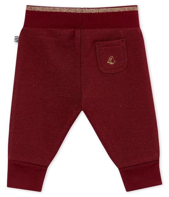 Pantalón en muletón brillante para bebé niña rojo Ogre / amarillo Dore