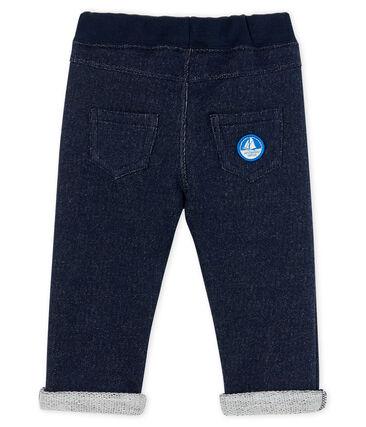 Pantalón de muletón para bebé niño azul Smoking
