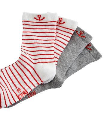 Juego de 2 pares de calcetines infantiles para niño