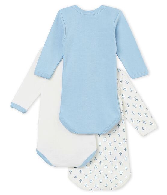 Trio de bodis de manga larga para bebé niño lote .