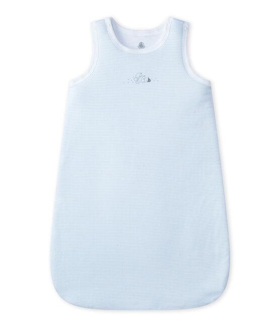 Saco de nacimiento milrayas bebé niño azul Fraicheur / blanco Ecume
