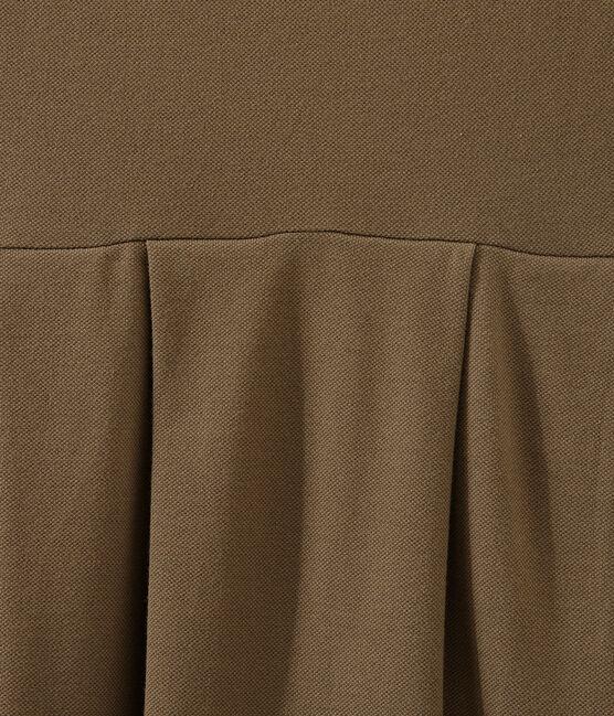 Vestido inspirado en el polo marrón Shitake