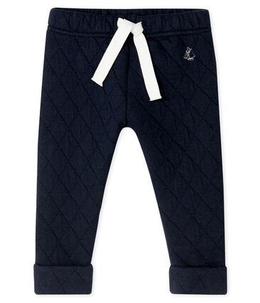 Pantalón de bebé niño en túbico acolchado azul Smoking