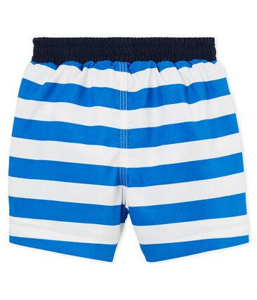 Shorts de playa de rayas para bebé niño azul Riyadh / blanco Marshmallow