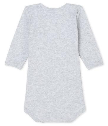 Bodi de manga larga para bebé niño gris Poussiere Chine