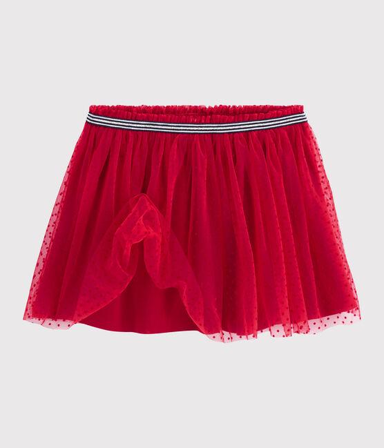 Falda de tul para niña rojo Terkuit