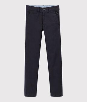 Pantalón de gabardina de niño azul Smoking