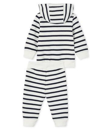 Sudadera y jogging para bebé blanco Marshmallow / azul Smoking