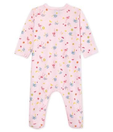 Pelele de punto de algodón para bebé niña rosa Vienne / blanco Multico