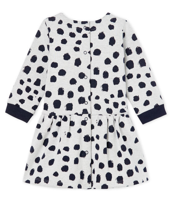 Vestido de manga larga Jean Jullien para bebé niña MARSHMALLOW/DOTTIES CN