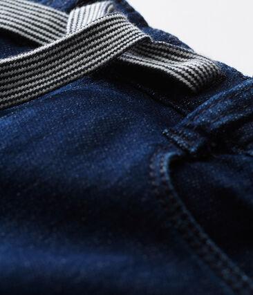 Pantalón de tela efecto vaquero para bebé unisex