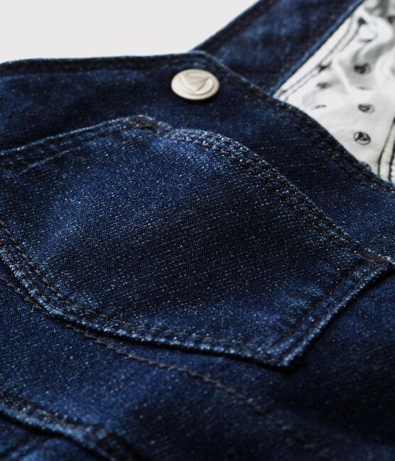 Peto largo para bebé niña/niño azul Jean