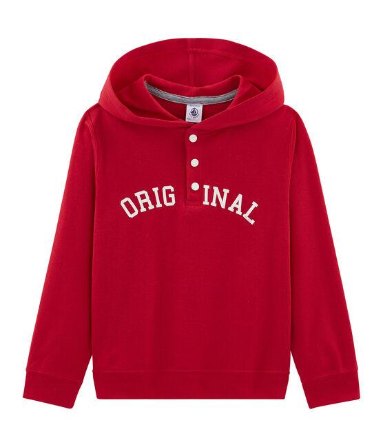 Sudadera con capucha infantil para niño rojo Terkuit