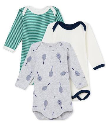 Tres bodis manga larga para bebé niño