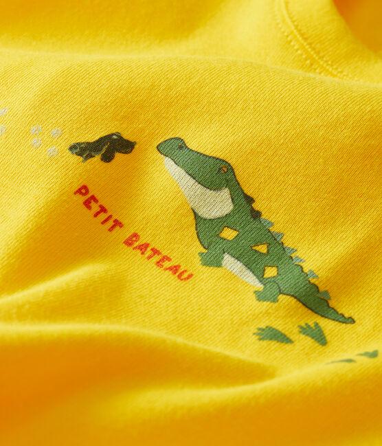 Camiseta de manga corta para bebé niño amarillo Shine