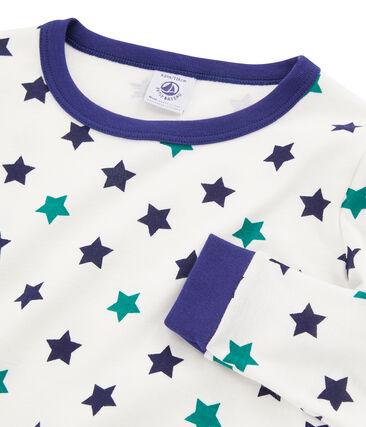 Pijama de corte muy ajustado para niño blanco Marshmallow / blanco Multico
