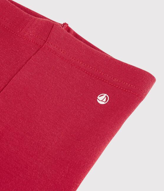 «Legging» de punto 1 x 1 liso para bebé niña. rojo Terkuit