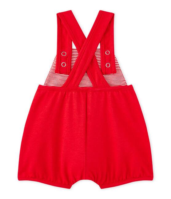 Peto corto bebé niña en jersey tupido rojo Terkuit
