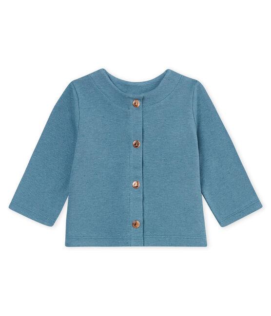 Cárdigan de algodón/lino para bebé niña azul Crystal