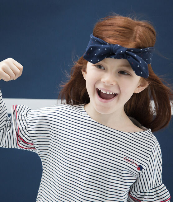 Turbante infantil para niña azul Haddock / blanco Multico