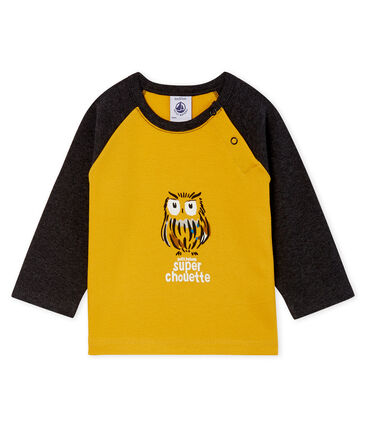 Camiseta de manga larga para bebé niño amarillo Boudor / negro City