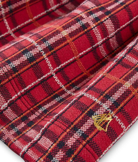 Falda de niña rojo Terkuit / blanco Multico