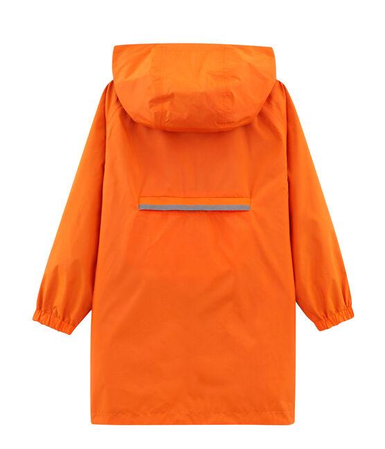 Cortavientos reversible infantil unisex naranja Carotte / azul Fontaine