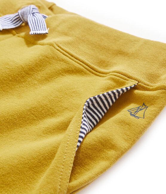 Pantalón infantil para niño amarillo Bamboo