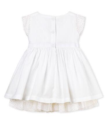 Vestido de manga corta de ceremonia para bebé niña blanco Ecume