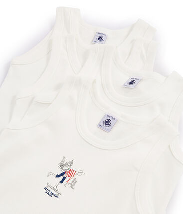 Caja sorpresa con 4 camisetas de tirantes para niño