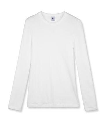 Camiseta de mujer icónica de manga larga blanco Ecume