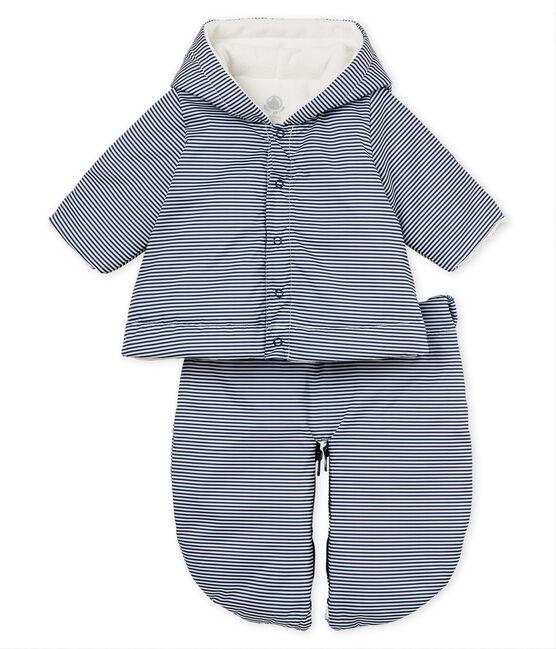 Nono piloto 3 en 1 para bebé unisex azul Smoking / blanco Marshmallow
