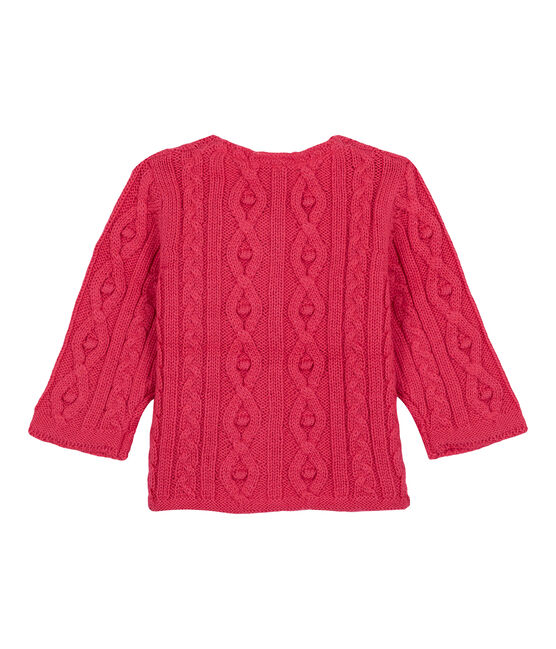 Cable-knit cardigan rosa Impatience